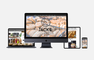 Jacks Bagels website