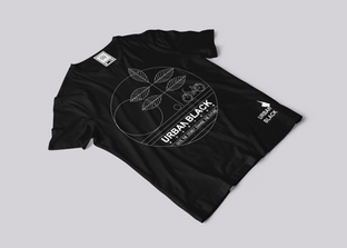 Urban black T-shirt branding