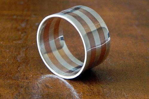 Anel em prata e cobre