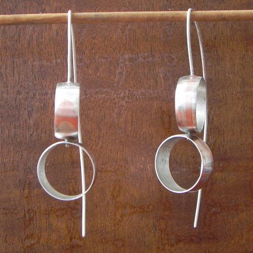 Brinco de prata e cobre