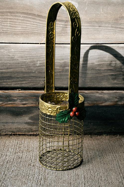 Small Gold Metal Basket