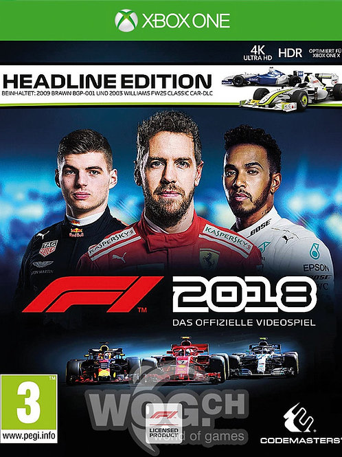 F1 2018 digital Xbox One
