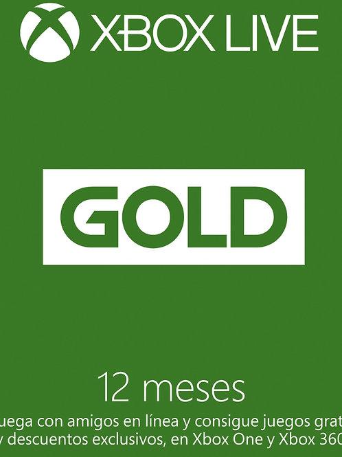 XBOX LIVE GOLD 1 año