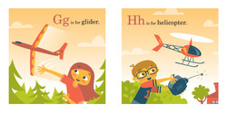 Spread from ABCs ON WINGS