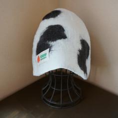22)サウナハット(シンプル)牛柄