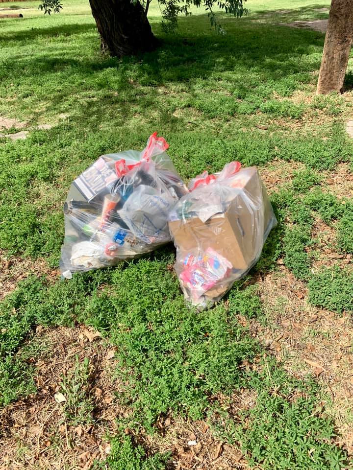 Trash collected during the Elm Avenue Clean-up Project