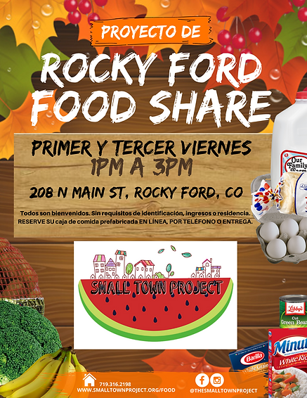 Rocky Ford Food Share Flyer (Spanish).pn