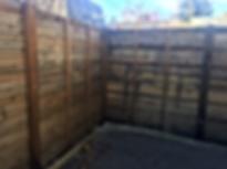 Horizontal Cedar Fence, Life time treatment.