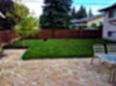 Fence, patio, plants/trees, and sod all done by CLD calgary.
