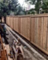 Cedar Bastion fence