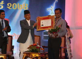 "Koshish receives ""Best Social Organization Award"""