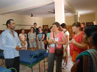 Belgian nursing students visit psychiatric centre in India
