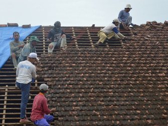 New roof for Indonesian school for the deaf