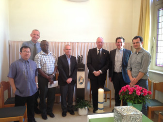 Visit of Mgr. Lode Aerts to the Brothers of Charity and Fracarita International at 'Huize Leven' in