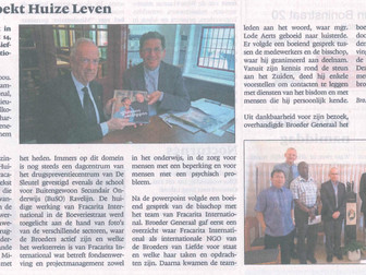 News article: Mgr. Lode Aerts visits 'Huize Leven' (NL)