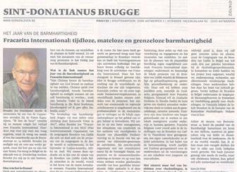 Article about Fracarita International in catholic paper 'Kerk & Leven'