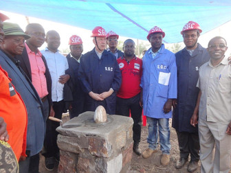 Laying the foundation stone of the new psychiatric centre in DR Congo