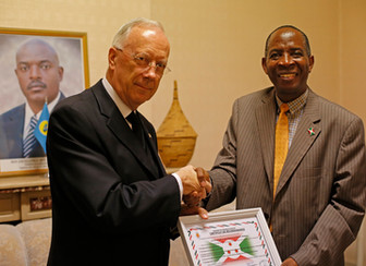 Congregation receives Certificate of Appreciation from Burundi Embassy