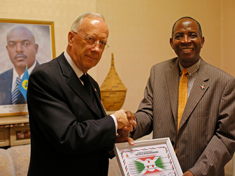 Congregation receives Certificate of Appreciation from Burundi Embassy