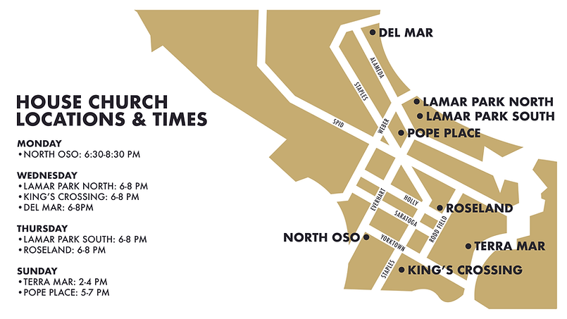 House Church Locations & Times