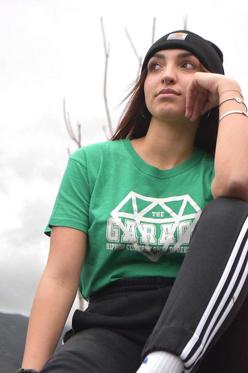 Maglia verde chiaro logo classic bianco