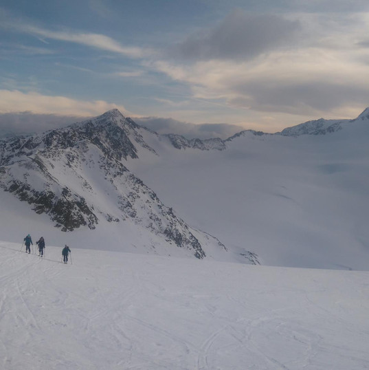 Evening Ski touring