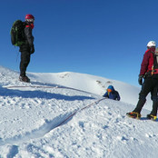 Snow bollard winter skills