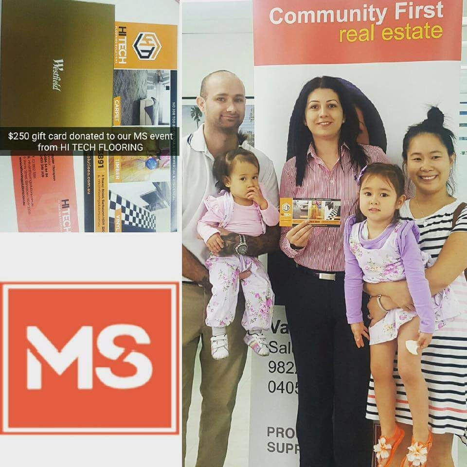 Hi Tech Flooring Solutions have donated a $250 Westfields gift voucher to the MS event held by Community First Real Estate Liverpool