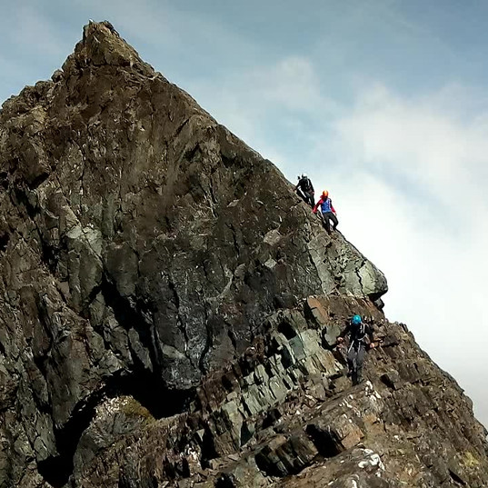 the Imposter slab on the Clach Glas Blaven Traverse