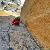 Alpine rock climbing , aiguille du midi Chamonix