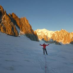 Alpine climbing Mont blanc massif by the Torino hut