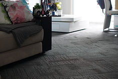 carpet tiles, bankstown, solution dyed nylon, lounge room, living room, home decor, renovations, modern, cushion back, checkered board patter, flowers, stylish, cozy, comfy, comforatable, hi tech flooring solutions, new shop, carpet, homes, glue, grey, gray, patterned, stacey street