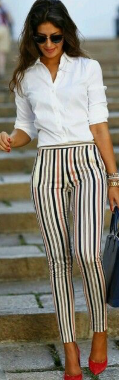 outfit con lineas verticales