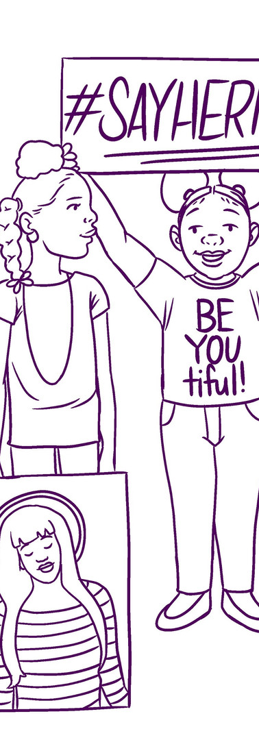 """""""Say Her Name"""" Coloring Page"""