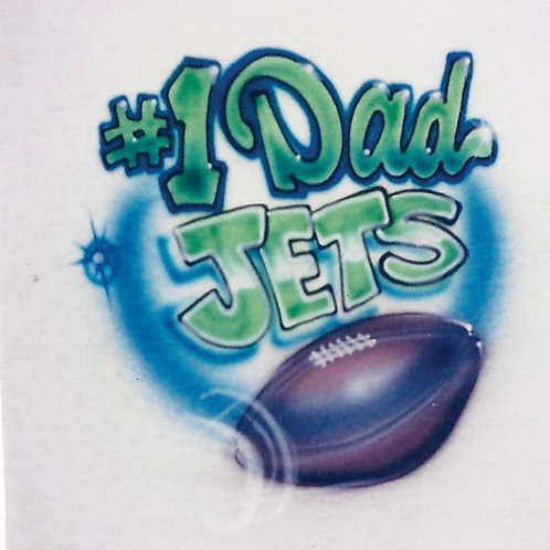 Airbrush Design Football Number One Dad #1 Team Name - A0100