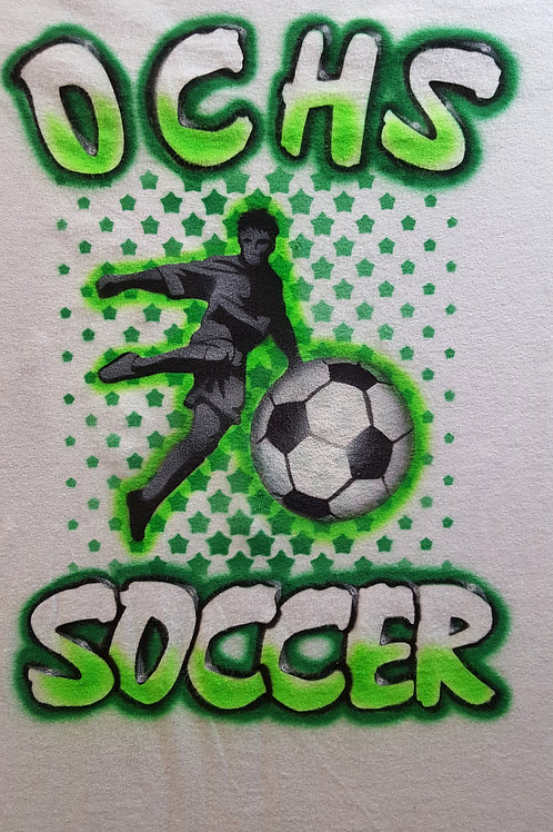 Airbrush Design High School Soccer - A0096