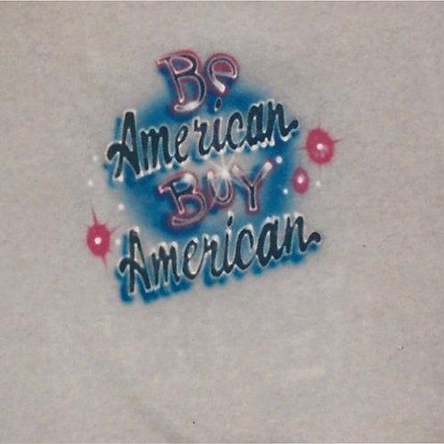 Airbrush Design Buy American Patriotic - A0077