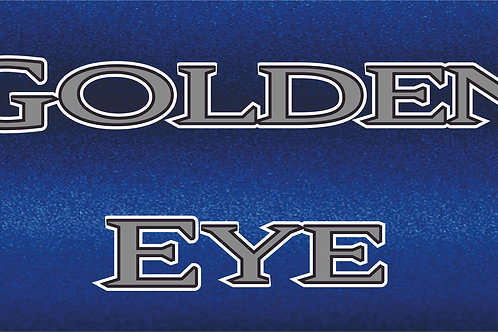 Printed Auto Tag - Golden Eye Blue