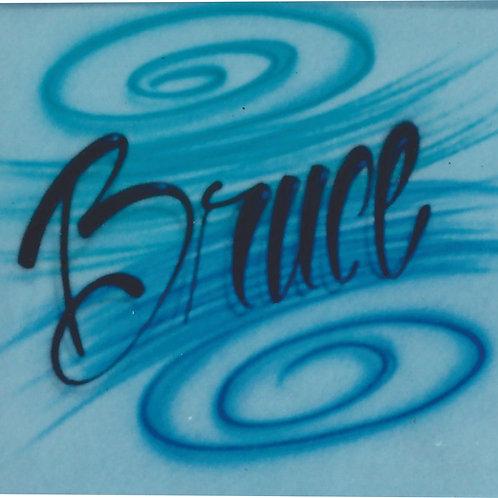Airbrush Design Single name - A0001