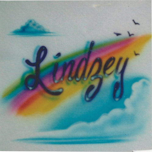 Airbrush Design Single name Rainbow - A0025