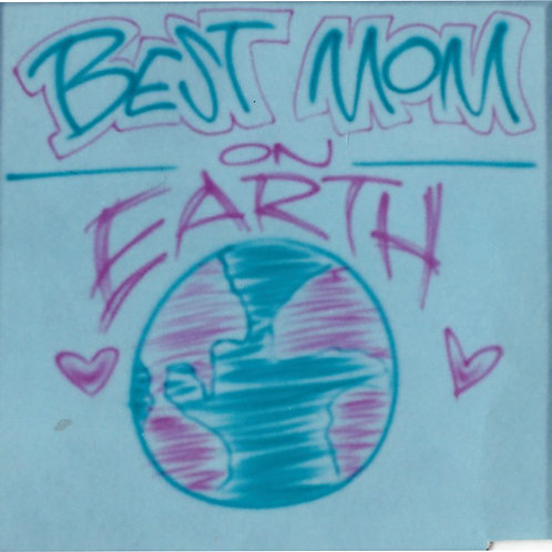Airbrush Design Best Mom on Earth - A0048