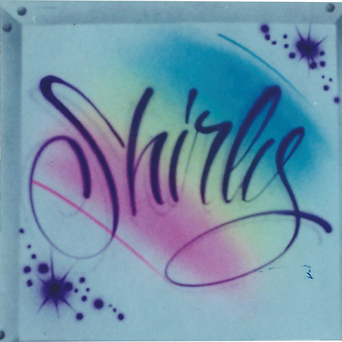 Airbrush Design Single name - A0002