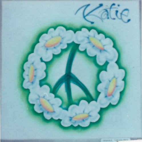 Airbrush Design Peace Sign Flowers - A0052
