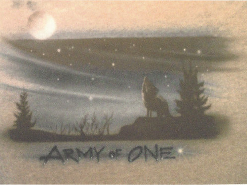 Airbrush Design Army of One - A0054
