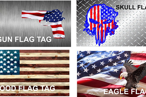 Patriotic You Design Auto Tag