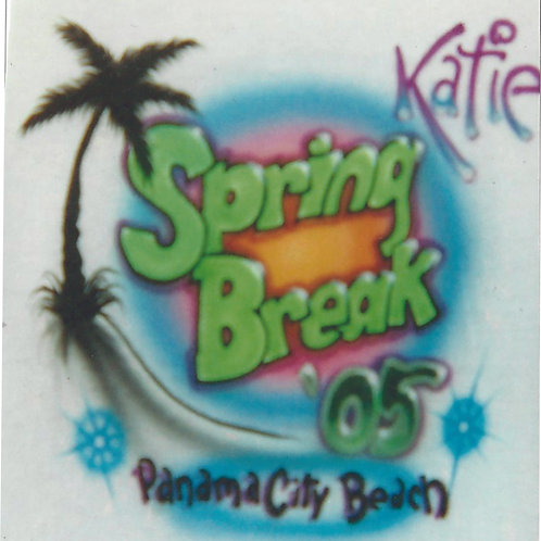 Airbrush Design Spring Break Name - A0072