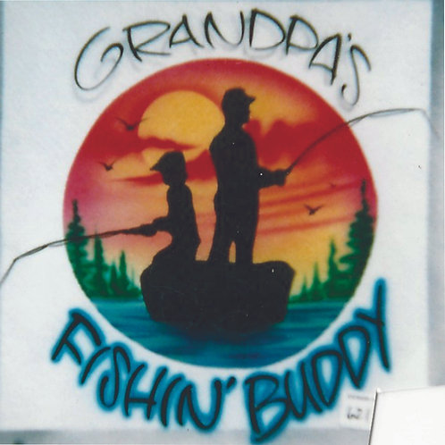 Airbrush Design Grandpa's Fishing Buddy - A0071