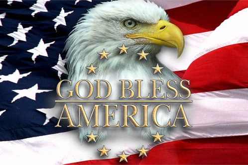 Printed Auto Tag - God Bless America auto tag