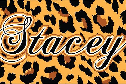 Printed Auto Tag - Cheetah Print