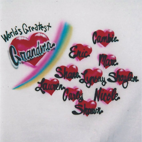 Airbrush Design World's Greatest Mom- A0081